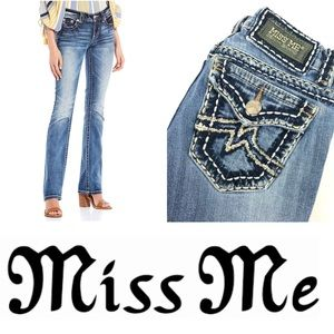 MISS ME Irene Bootcut Medium Wash Denim Jeans